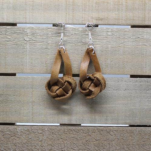 "Genuine Leather Earrings ""Celtic Knot"""