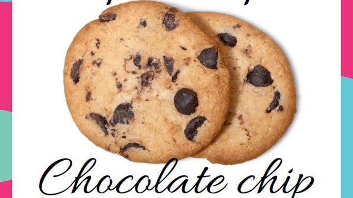 Recipe Card - Chocolate Chip Cookie