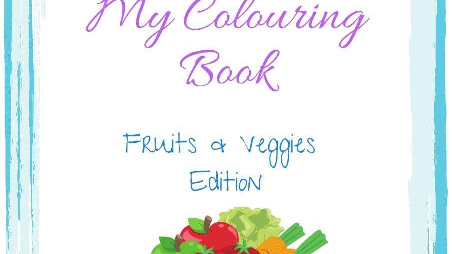 Fruits & Veggies Colouring Book