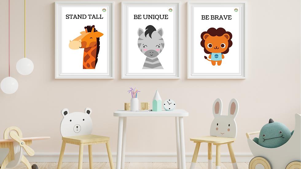 Safari Nursery Printables, Nursery Décor, Nursery Wall Art