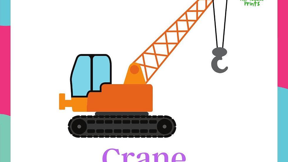 Construction Vehicles Flashcards