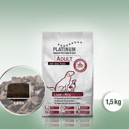 PLATINUM Adult Lamb+Rice 1,5 kg