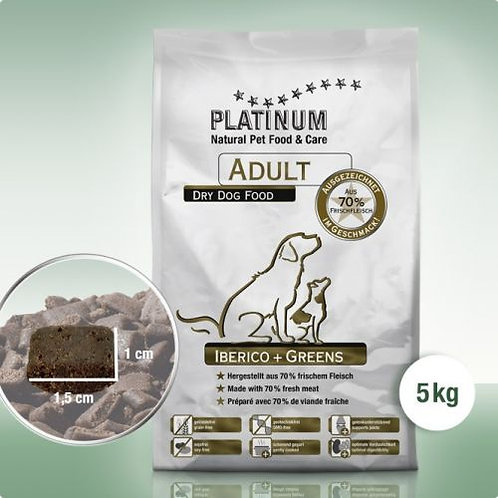 PLATINUM Adult Iberico+Greens ab 5 kg