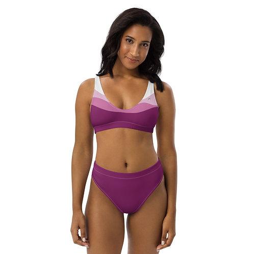 Recycled high-waisted bikini