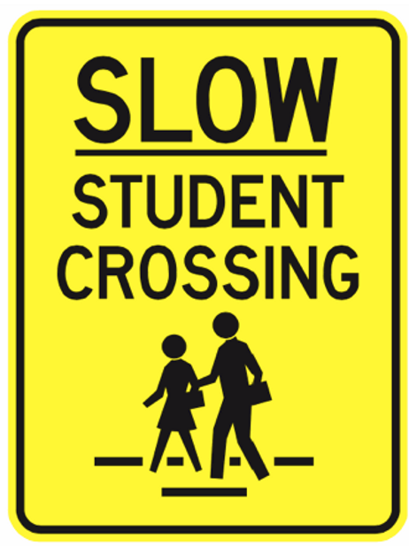 Slow student crossing