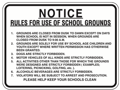 Notice for grounds