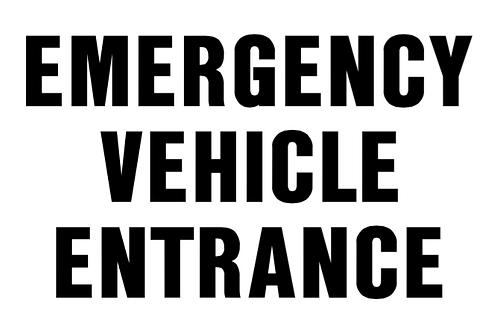 Emergency Vehicle Entrance
