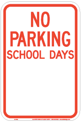 No Parking School days