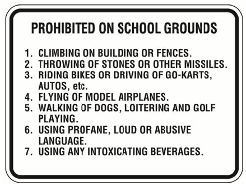 Rules on the grounds