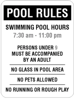 pool rules (black)