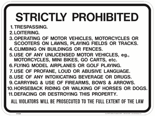 Stricktly Prohibited