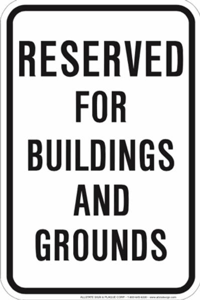 Reserved for buildings and grounds