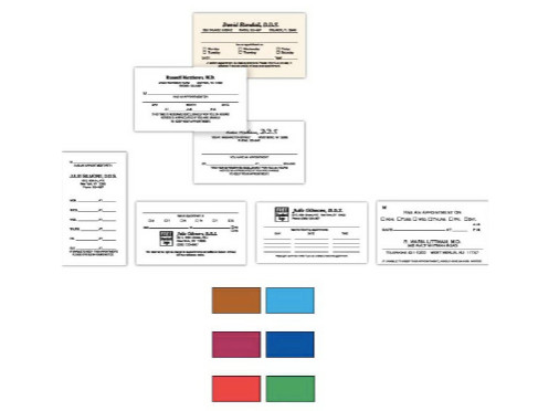 product nameone sided business appointment cards