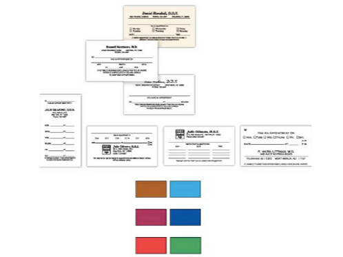 Product NameOne-sided business / appointment cards