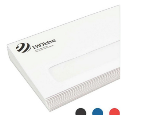 Spot Color Business Envelope - Flip & Seal w/ Poly Window