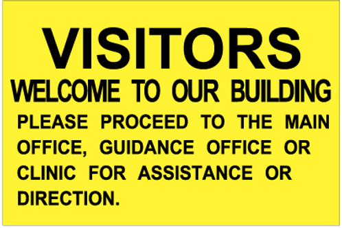Visitors are welcome to our building