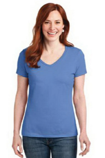 Hanes Ladies Nano-T Cotton V-Neck T-Shirt