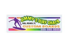 4-Color Process Outdoor Decals - Clear Polyester (Back Adhesive)