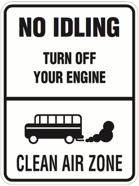 No Idling, Turn off your engine