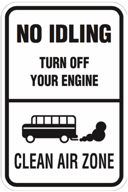 No idling - turn off your Engine