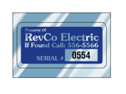 "2.75"" x 1.375"" Rectangle ID Decal - Chrome"