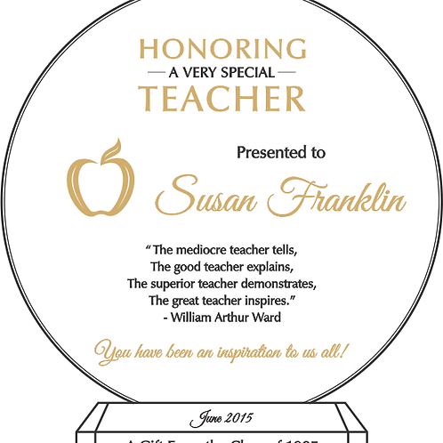 Honoring a very Special Teacher
