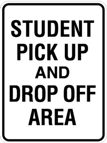 Student pick up and drop off area