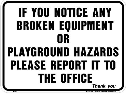 Broken equipment