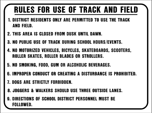 Rules for use track and field