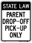 Parent drop-off pick-up only