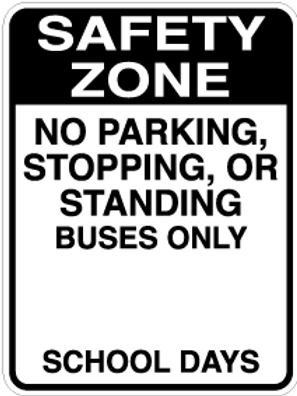 No Parking, Standing buses only