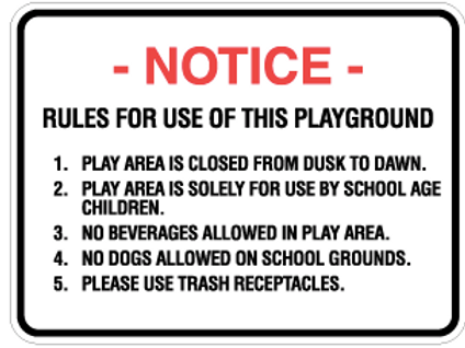 Rules for use this playground