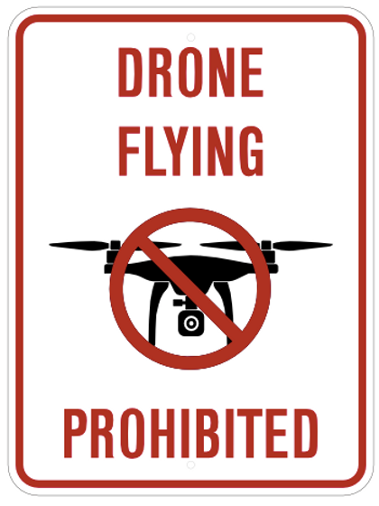 Drone flying prohibited