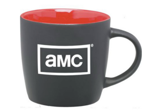 12 oz. Matte Black Ceramic Coffee Mug with Colored Interior