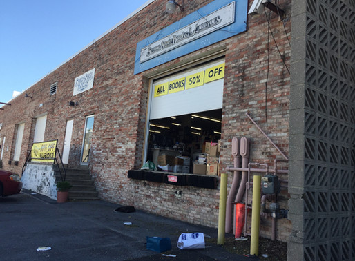 You have to love a used bookstore with a loading dock!