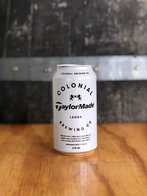 Colonial Brewing Co. / TaylorMade Lager, Cans 375mL