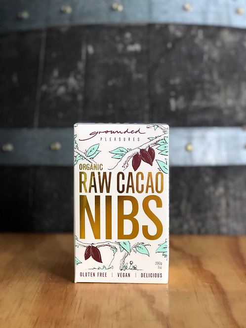 Grounded Pleasures - Organic Raw Cacao Nibs, 200g