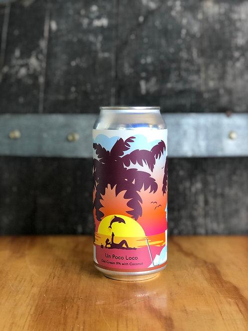 Tallboy & Moose -  Un Poco Loco, Oat Cream IPA with coconut, 440mL