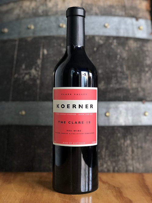 Koerner The Clare, Red Wine, 2020, Clare Valley, 750mL
