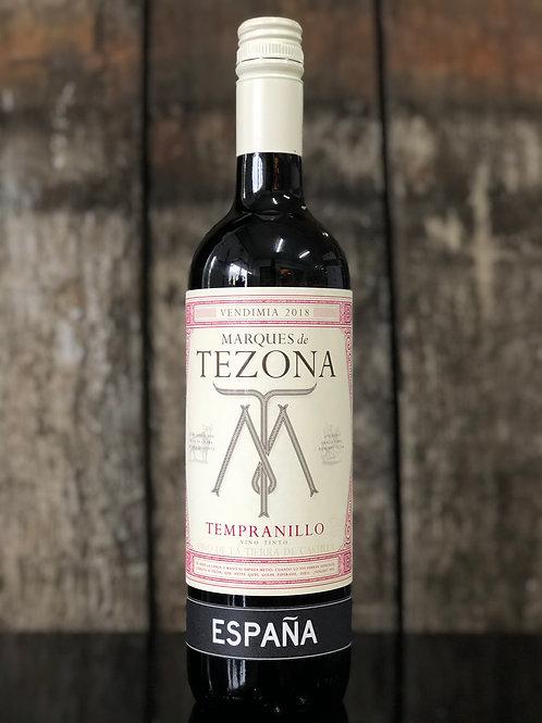 Marques de Tezona, Tempranillo 2018 750mL