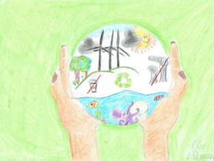 'The World in our hands' by Cleo Pitman