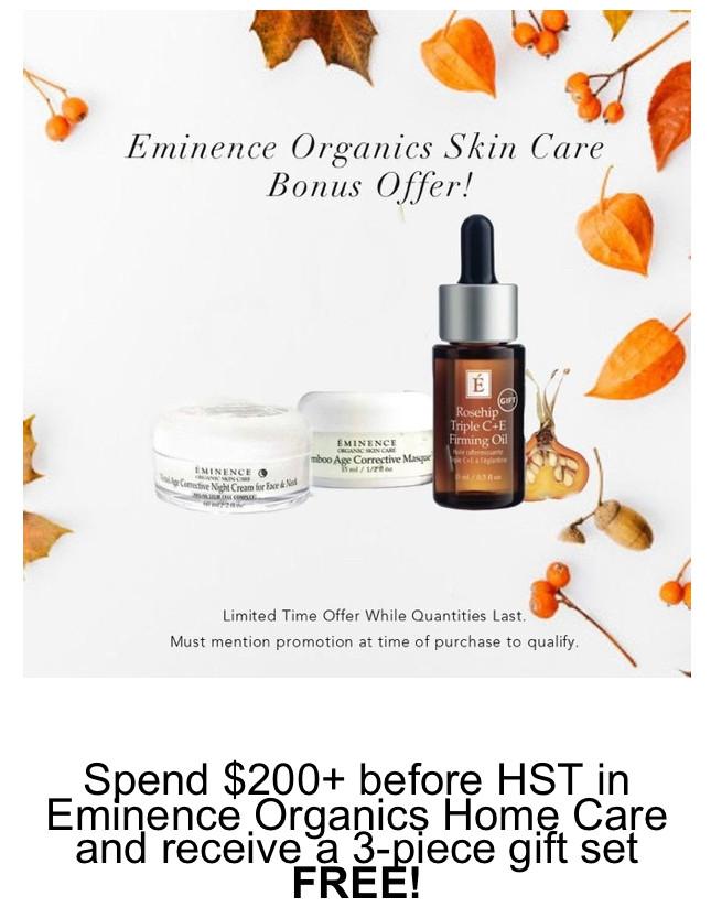 Eminence Organic Skin Care Bonus
