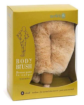 "Merben Body Brush - Normal Sissal Handheld 6"""