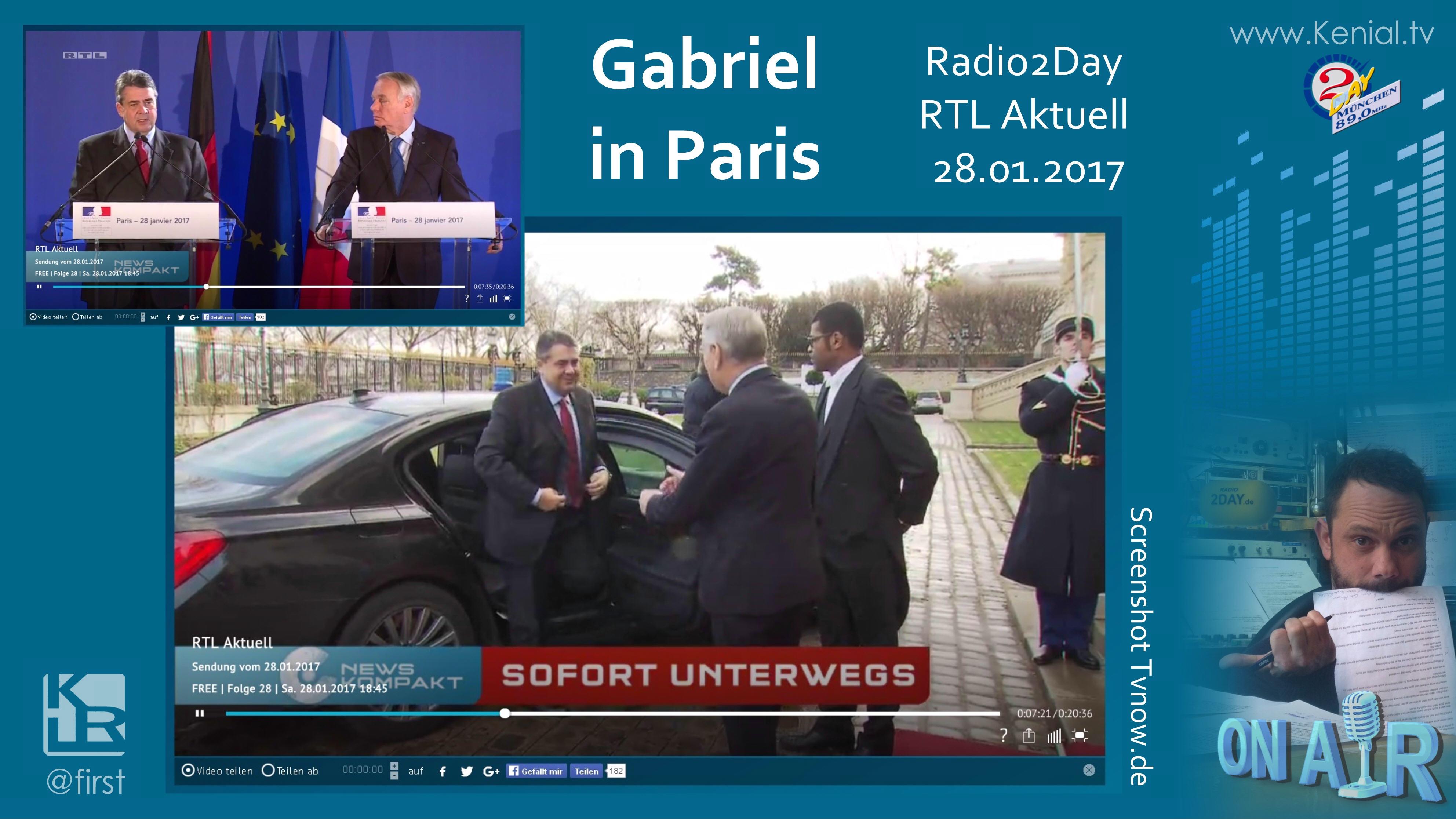 Außenminister Gabriel in Paris
