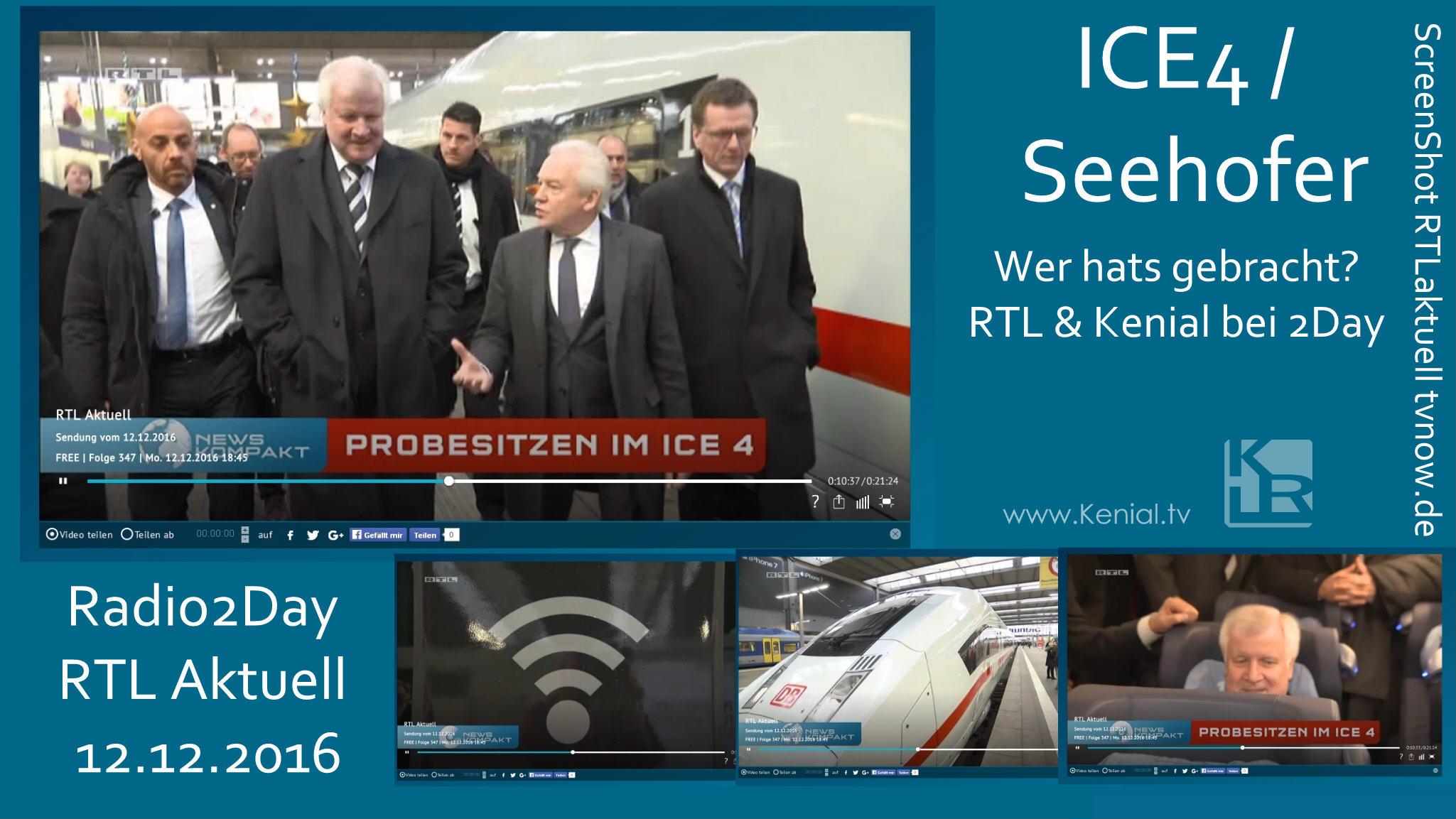 Der neue ICE4 mit Seehofer