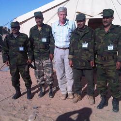 With the Polisario Brigade Staff, Western Sahara