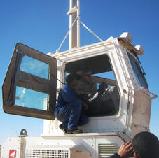 Landmine clearance vehicle - Western Sahara
