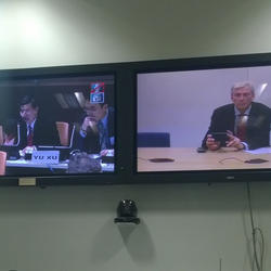 Speaking to the UN in New York via video-link from London