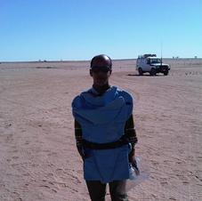 Landmine clearance team member - Western Sahara