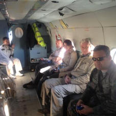 Aboard a UN helicopter in Western Sahara